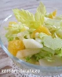 Рецепт салата с сельдереем и фруктами