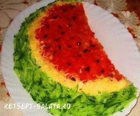 Салат арбузная долка