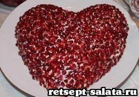 Салат в форме сердца, фоторецепт