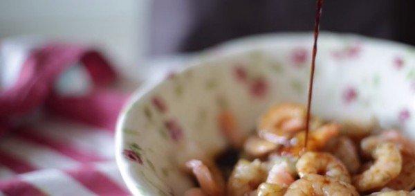 креветки, соевый соус